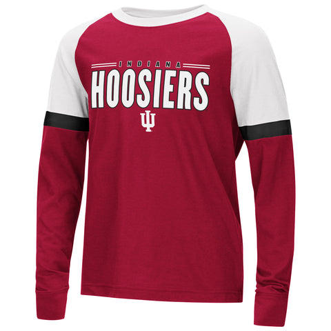 Indiana Hoosiers Colosseum Youth Ollie L/S Raglan Shirt