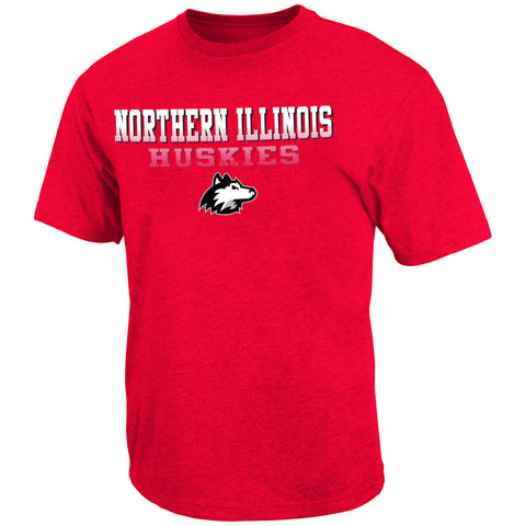 Northern Illinois Huskies Colosseum Red Fade In Shirt - Dino's Sports Fan Shop - 1