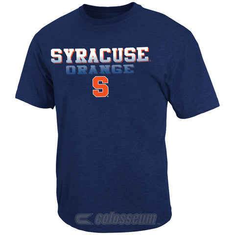 Syracuse Orange Colosseum NCAA Blue Fade In Adult Shirt - Dino's Sports Fan Shop - 1