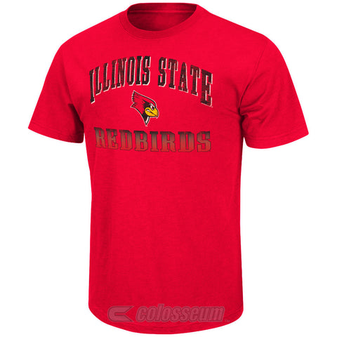 Illinois State Colosseum Colosseum Red Contour Adult Shirt - Dino's Sports Fan Shop