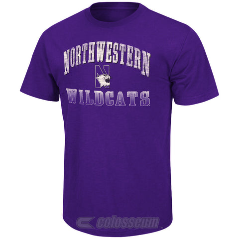 Northwestern Wildcats Colosseum Contour Adult Shirt - Dino's Sports Fan Shop