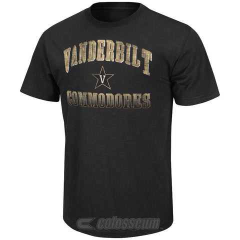 Vanderbilt Commodores Colosseum Black Contour Adult Shirt - Dino's Sports Fan Shop
