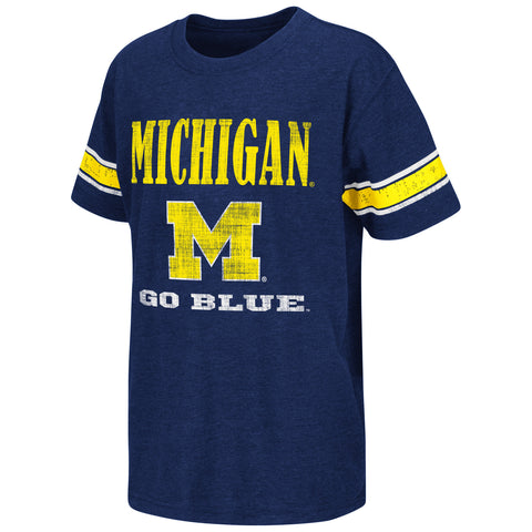 Michigan Wolverines Colosseum NCAA Blue Free Agent Youth Shirt - Dino's Sports Fan Shop