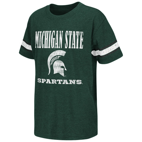 Michigan State Spartans Colosseum NCAA Green Free Agent Youth Shirt - Dino's Sports Fan Shop