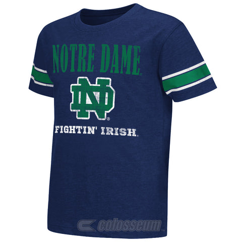 Notre Dame Fighting Irish Colosseum NCAA Blue Free Agent Youth Shirt - Dino's Sports Fan Shop