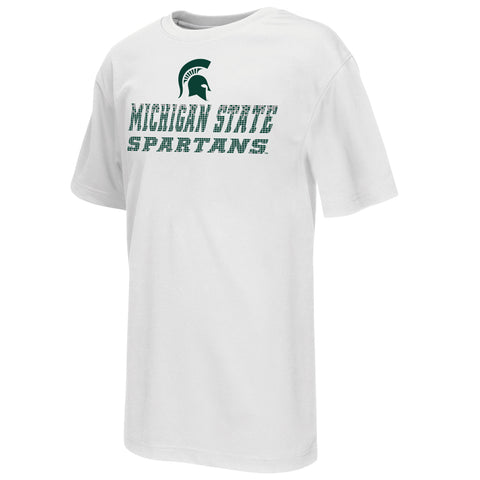 Michigan State Spartans Colosseum Youth Performance Pixel Shirt - Dino's Sports Fan Shop