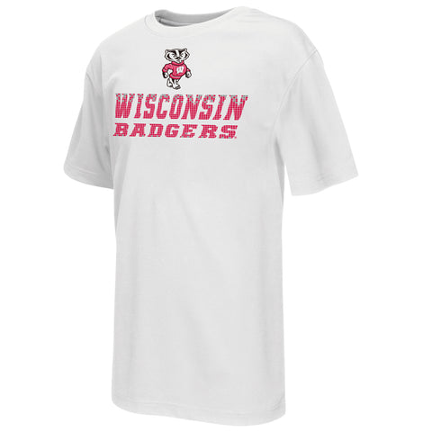 Wisconsin Badgers Colosseum Youth Performance Pixel Shirt - Dino's Sports Fan Shop