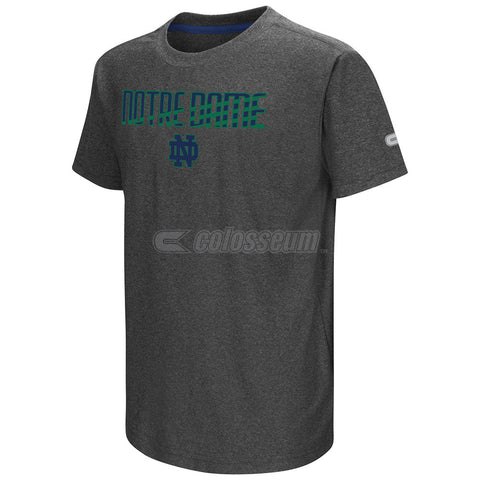 Notre Dame Fighting Irish Colosseum Heather Charcoal Hat Trick Youth Shirt
