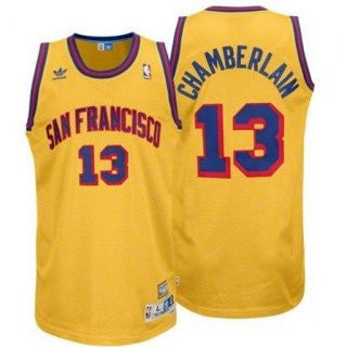 outlet store c9708 279ce Wilt Chamberlain #13 San Francisco Warriors Men's Adidas Throwback Swingman  Jersey