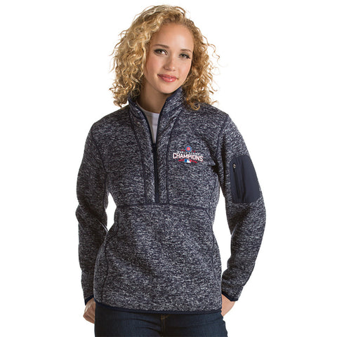 Chicago Cubs Antigua MLB Grey 2016 World Series Champions Fortune Women's Jacket