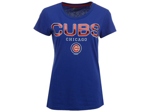 Chicago Cubs G-iii Round The Bases Foil Women's Shirt