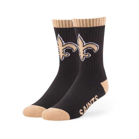 New Orleans Saints '47 Brand NFL Black/Gold Bolt Sport Socks