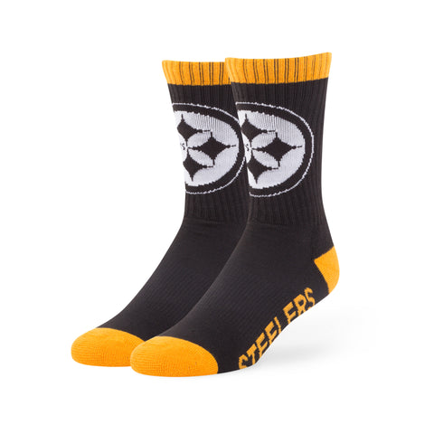 Pittsburgh Steelers '47 Brand NFL Black Bolt Sport Socks