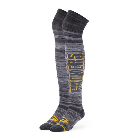 Green Bay Packers '47 Brand NFL Graphite Ellie OTK Socks