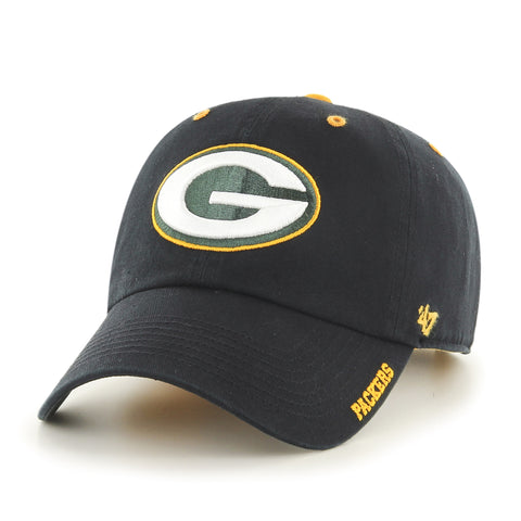 Green Bay Packers Black Ice Adult '47 Brand Adjustable Hat - Dino's Sports Fan Shop - 1