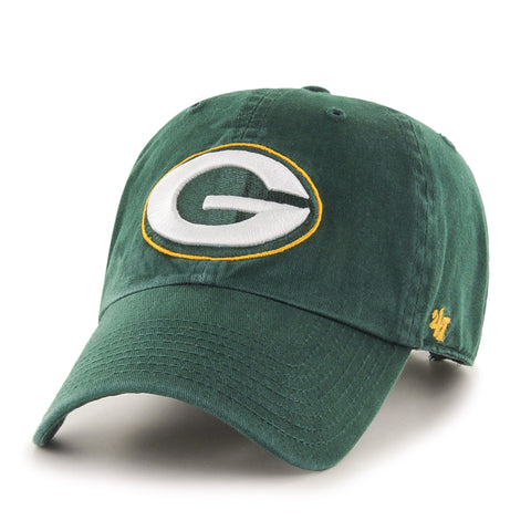 Green Bay Packers Adjustable Adult '47 Brand Clean Up Hat - Dino's Sports Fan Shop - 1