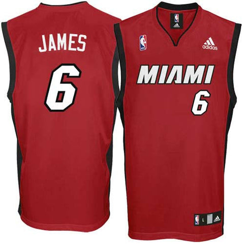 LeBron James #6 Miami Heat Swingman Alternate Youth Jersey, Maroon - Dino's Sports Fan Shop