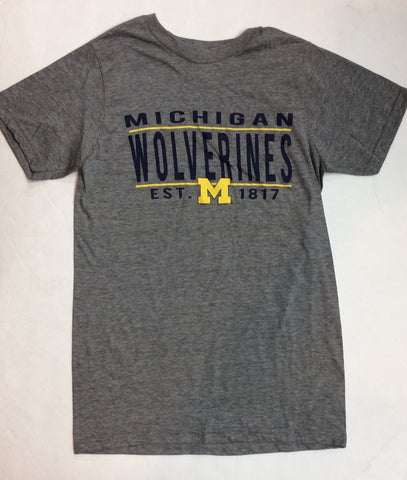 Michigan Wolverines Victory Gray Adult Shirt
