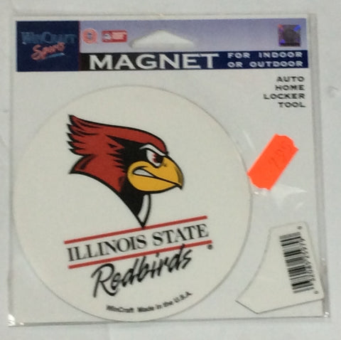 Illinois State Redbirds Wincraft White Magnet - Dino's Sports Fan Shop