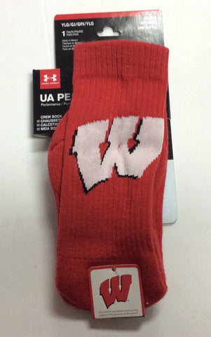 Wisconsin Badgers Under Armour Red Performance Socks
