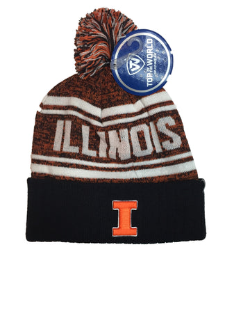 Illinois Fighting Illini Top Of The World NCAA Orange/Blue Driven Adult Knit Hat