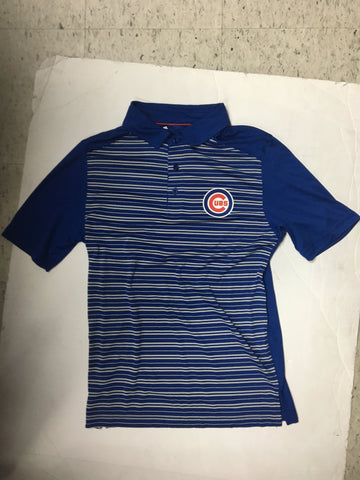 "Chicago Cubs Adult Striped ""And Then Some"" Polo"