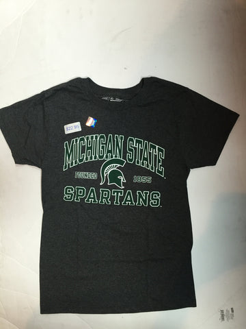 Michigan State Spartans Victory Grey Est. 1855 Adult Shirt - Dino's Sports Fan Shop