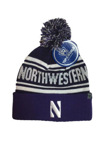Northwestern Wildcats Top Of The World NCAA Purple Driven Adult Knit Hat