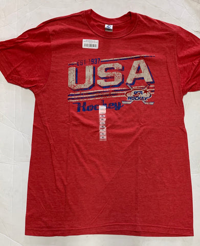USA Hockey Est. 1937 Adult New Agenda Red Shirt