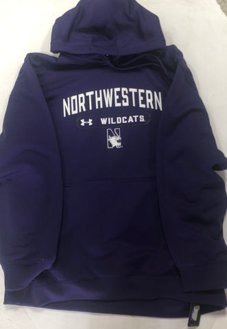 Northwestern Wildcats Adult Under Armour Small Logo Purple Sweatshirt