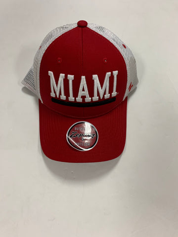 Miami of Ohio Redhawks Adult Upfront 2 Trucker Adjustable Hat