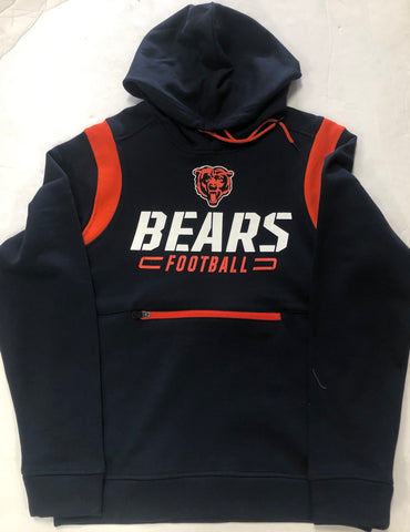 Chicago Bears Football Adult Fanatics Blue Logo Sweatshirt