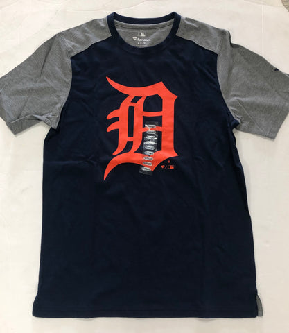 Detroit Tigers Adult Fanatics Blue Logo Shirt