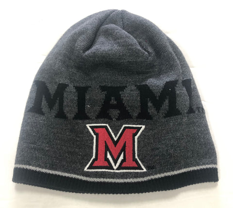 Miami (Ohio) Adult Adidas Player Beanie Gray One Size Hat