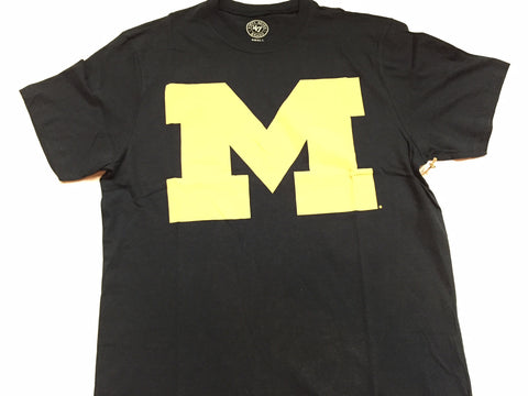 Michigan Wolverines '47 Brand Blue Logo Adult Shirt - Dino's Sports Fan Shop