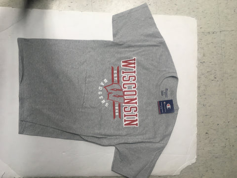 Wisconsin Badgers Adult Champion Grey Shirt