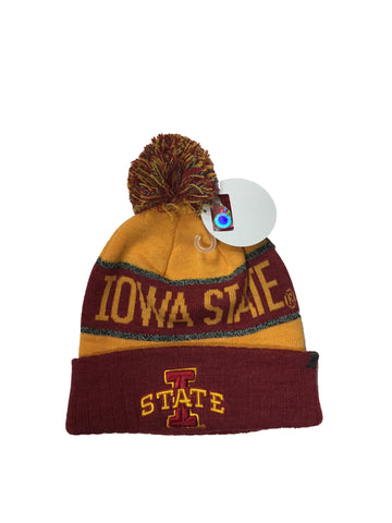 Iowa State Cyclones On Top Of The World NCAA Red/Yellow Below Zero Adult Knit Hat