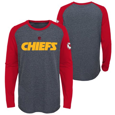 Kansas City Chiefs OuterStuff NFL Youth Charcoal L/S Shirt