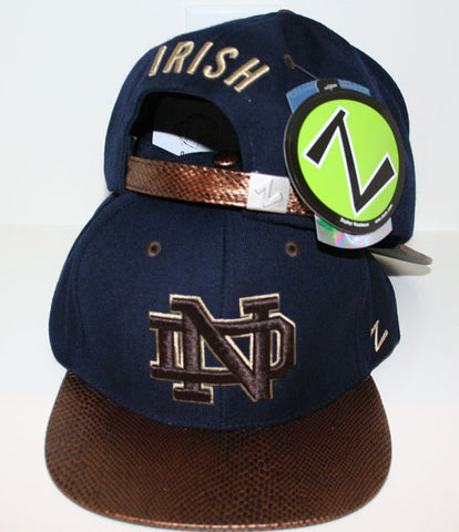 Notre Dame Fighting Irish Zephyr Snakeskin Strapback Hat - Dino's Sports Fan Shop