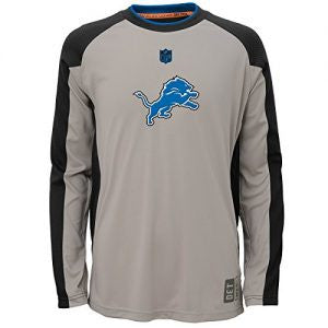 Detroit Lions NFL Covert L/S Youth Dri-Tek Shirt - Dino's Sports Fan Shop