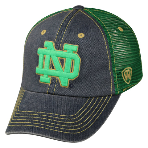 Notre Dame Fighting Irish Top of the World Past Structured Adjustable Hat - Dino's Sports Fan Shop