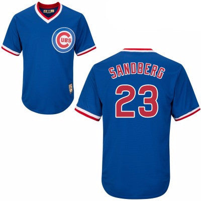 Ryne Sandberg #23 Chicago Cubs MLB Majestic Youth Cool Base Cooperstown Jersey - Dino's Sports Fan Shop