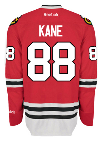 Patrick Kane #88 Chicago Blackhawks Reebok Edge Authentic Home Jersey - Dino's Sports Fan Shop