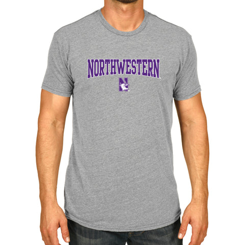 Northwestern Wildcats NCAA Adult The Victory S/S T-Shirt Gray