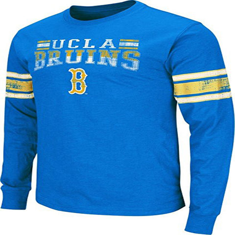 "UCLA Bruins NCAA ""Gridiron"" Long Sleeve Vintage Slub Men's T-Shirt"