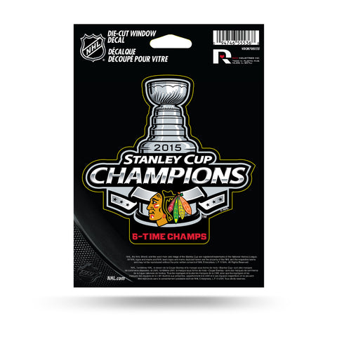 Chicago Blackhawks NHL 2015 Stanley Cup Champions Decal - Dino's Sports Fan Shop