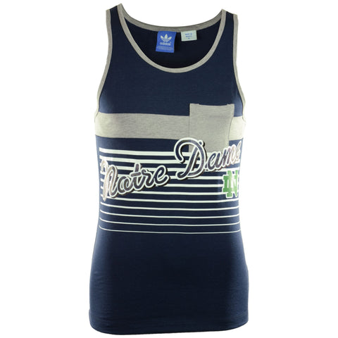 Notre Dame Fighting Irish Adidas Navy Tank Top - Dino's Sports Fan Shop