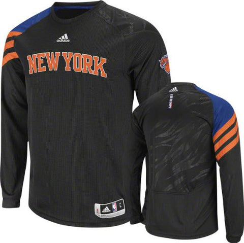 New York Knicks adidas Youth L/S Black Shooting Shirt - Dino's Sports Fan Shop