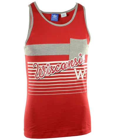 Wisconsin Badgers Adidas Men's Pocket Tank Top - Dino's Sports Fan Shop