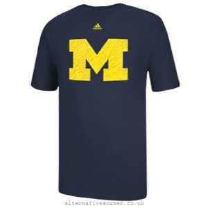 Michigan Wolverines Adidas Logo Go-To Shirt - Dino's Sports Fan Shop